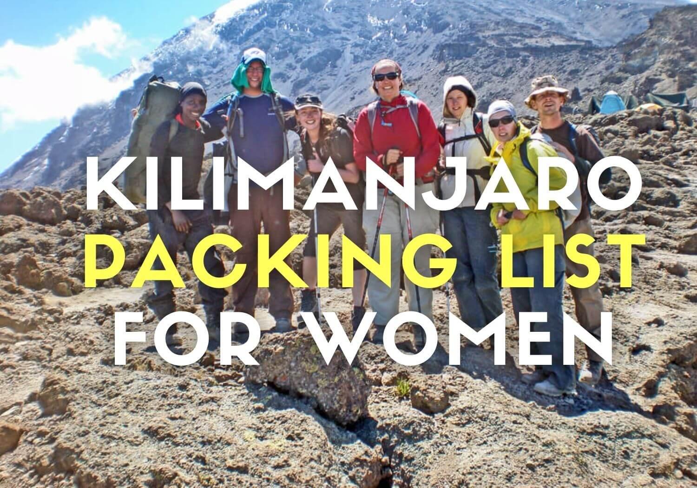 Kilimanjaro packing list for women